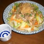 白菜と豚肉そしてブロッコリー